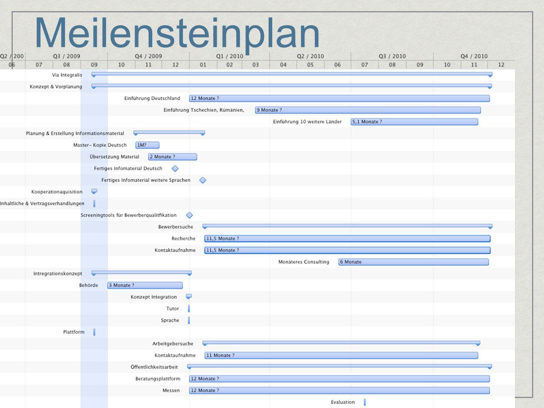 Meilensteinplan