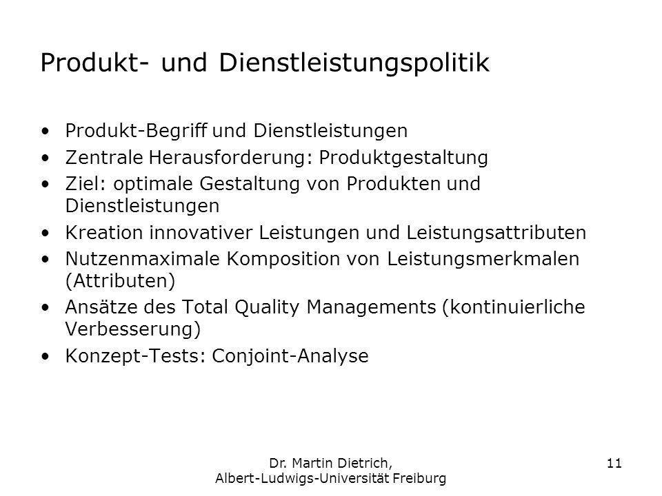 Produkt- und Dienstleistungspolitik