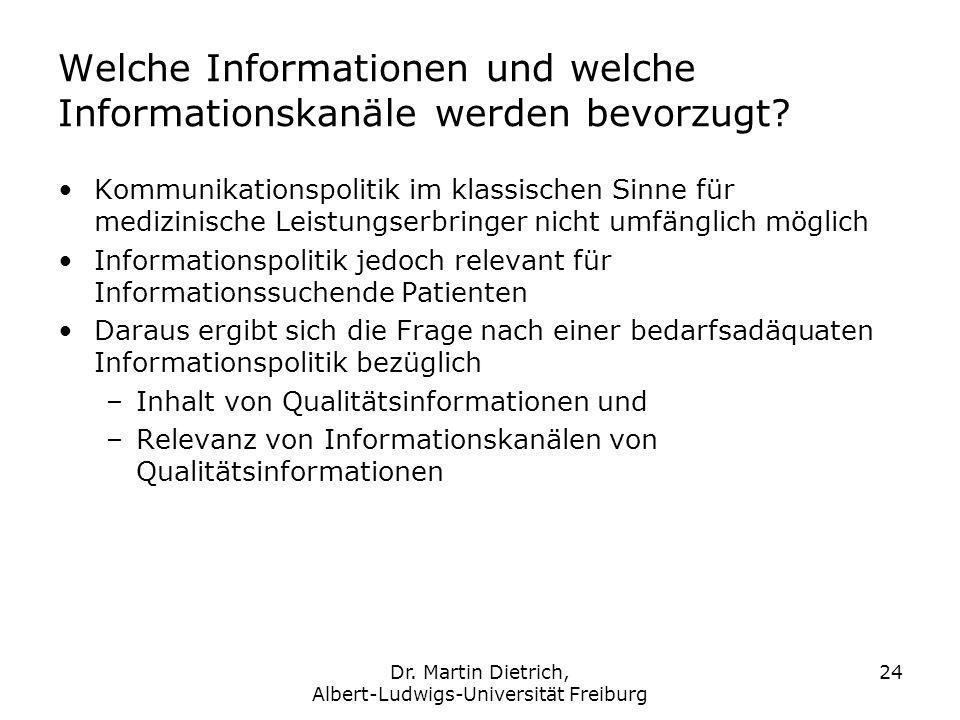 Welche Informationen und welche Informationskanäle werden bevorzugt