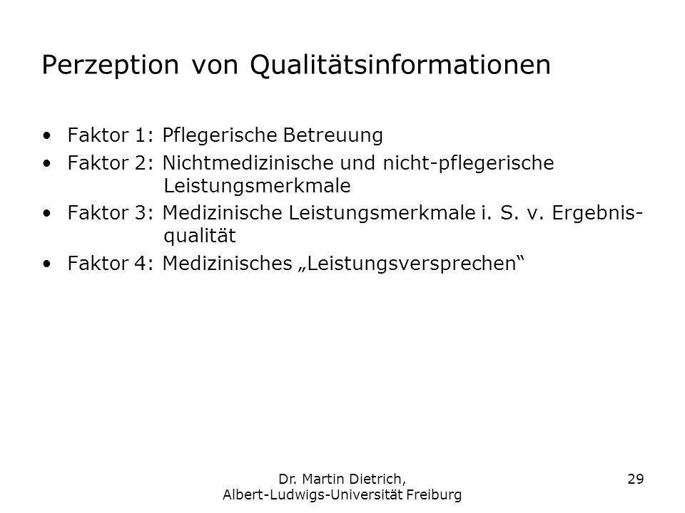 Perzeption von Qualitätsinformationen