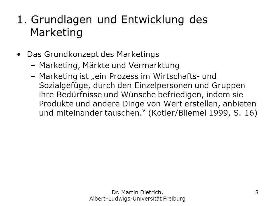 1. Grundlagen und Entwicklung des Marketing