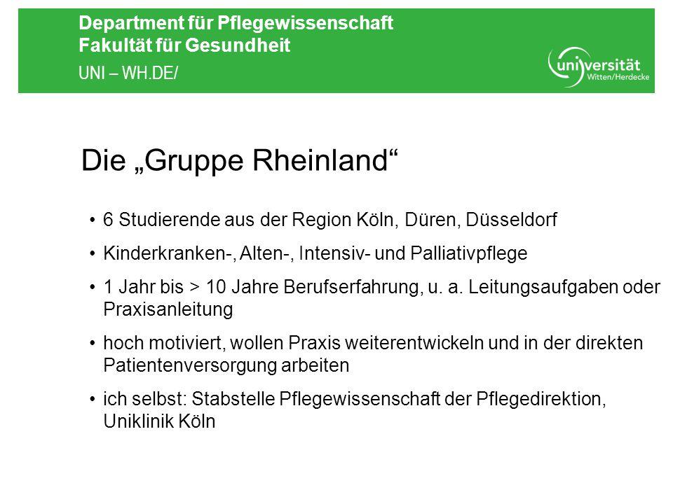 """Die """"Gruppe Rheinland"""
