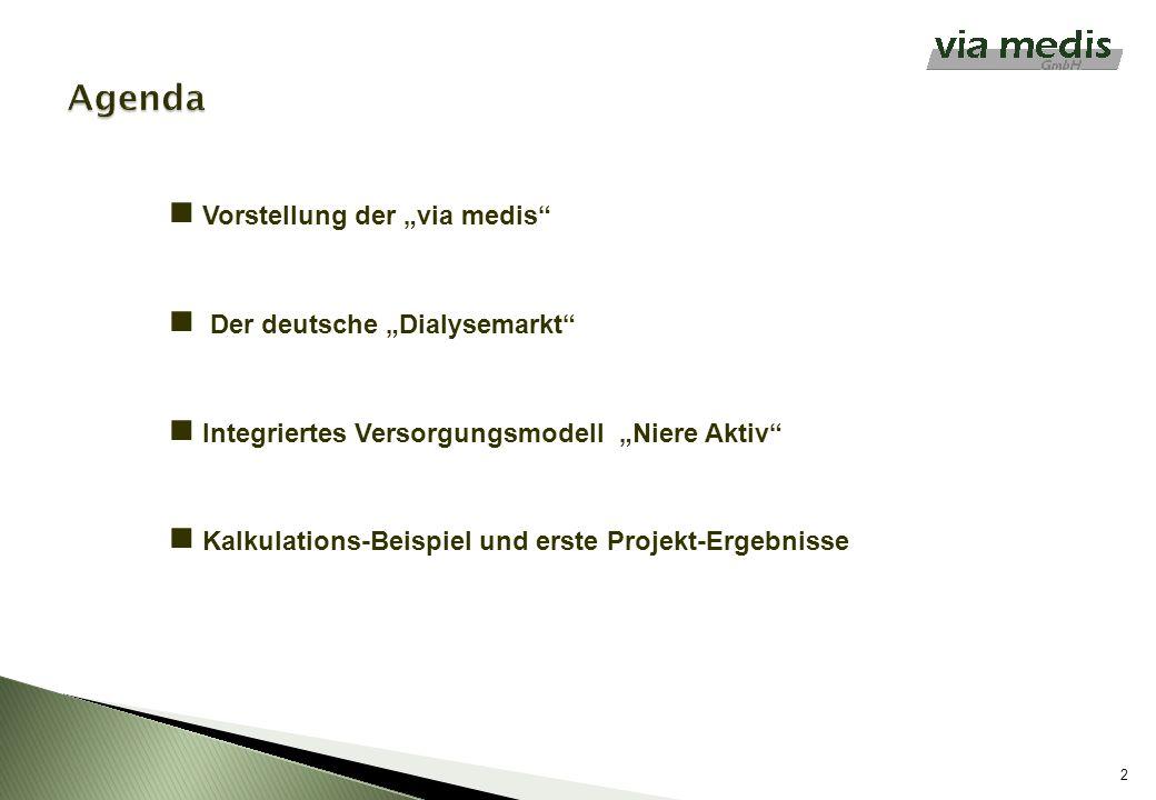"""Agenda Vorstellung der """"via medis Der deutsche """"Dialysemarkt"""