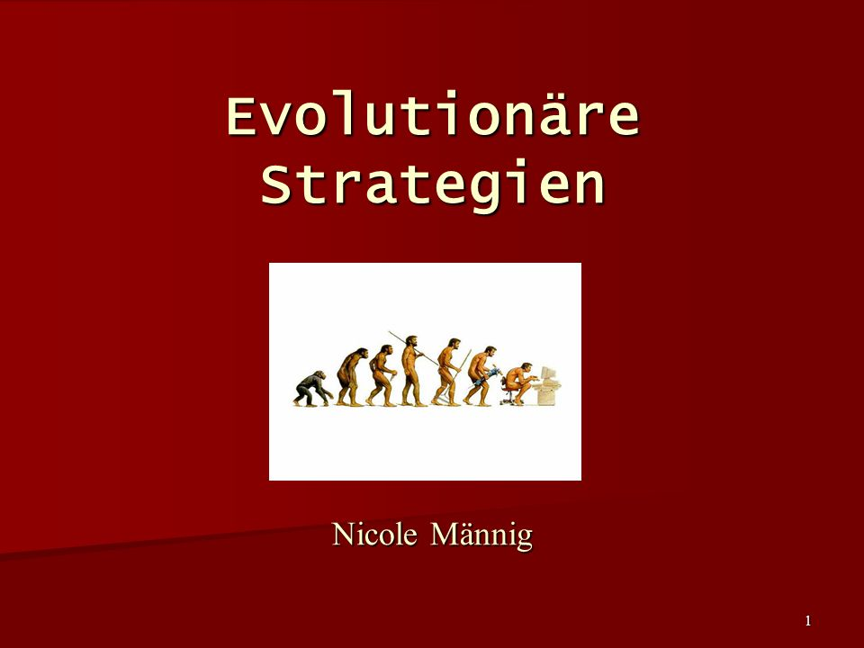 Evolutionäre Strategien