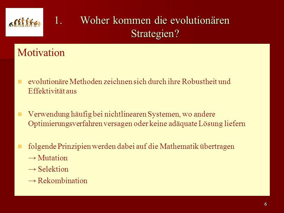 Woher kommen die evolutionären Strategien