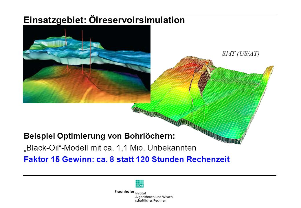 Einsatzgebiet: Ölreservoirsimulation
