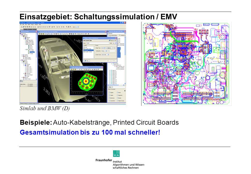 Einsatzgebiet: Schaltungssimulation / EMV