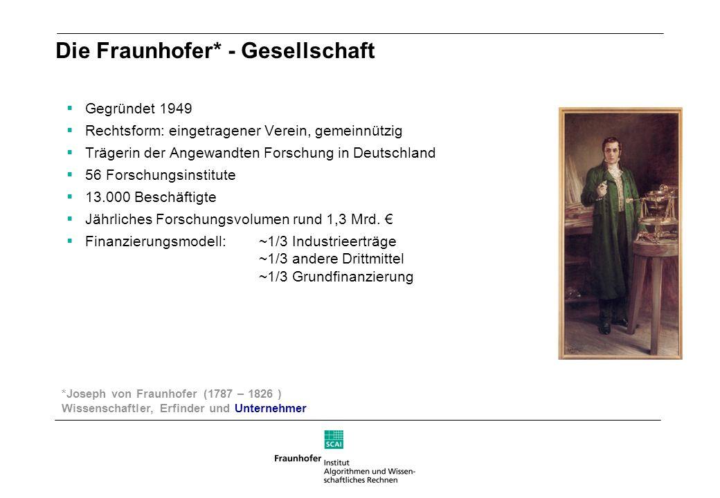 Die Fraunhofer* - Gesellschaft