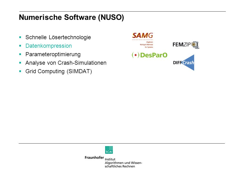 Numerische Software (NUSO)