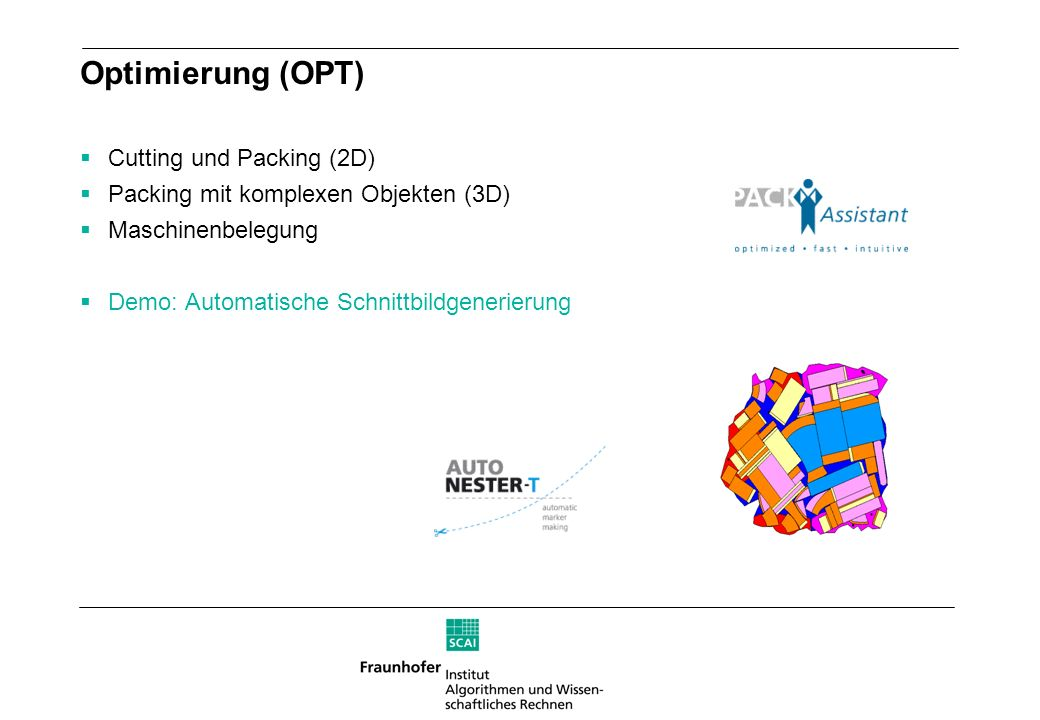 Optimierung (OPT) Cutting und Packing (2D)