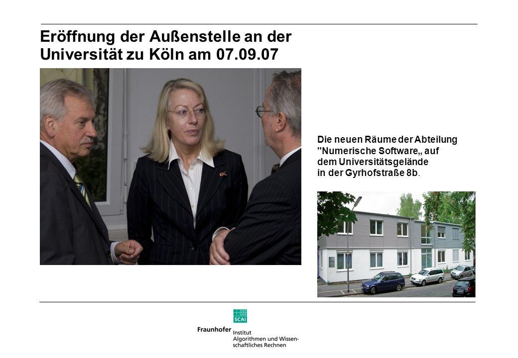Eröffnung der Außenstelle an der Universität zu Köln am 07.09.07