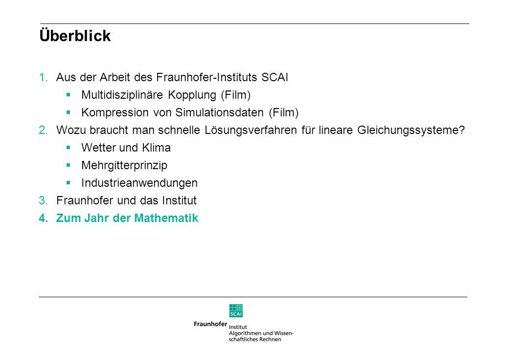 Überblick Aus der Arbeit des Fraunhofer-Instituts SCAI