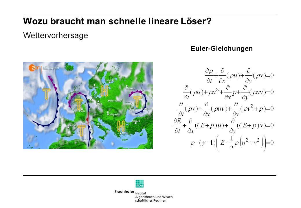 Wozu braucht man schnelle lineare Löser