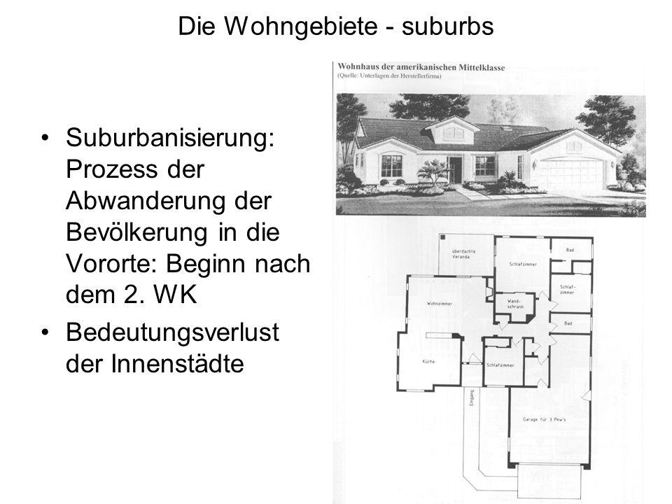Die Wohngebiete - suburbs