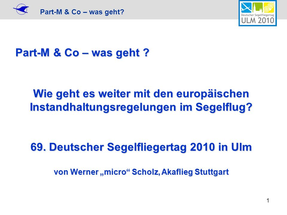 Part-M & Co – was geht