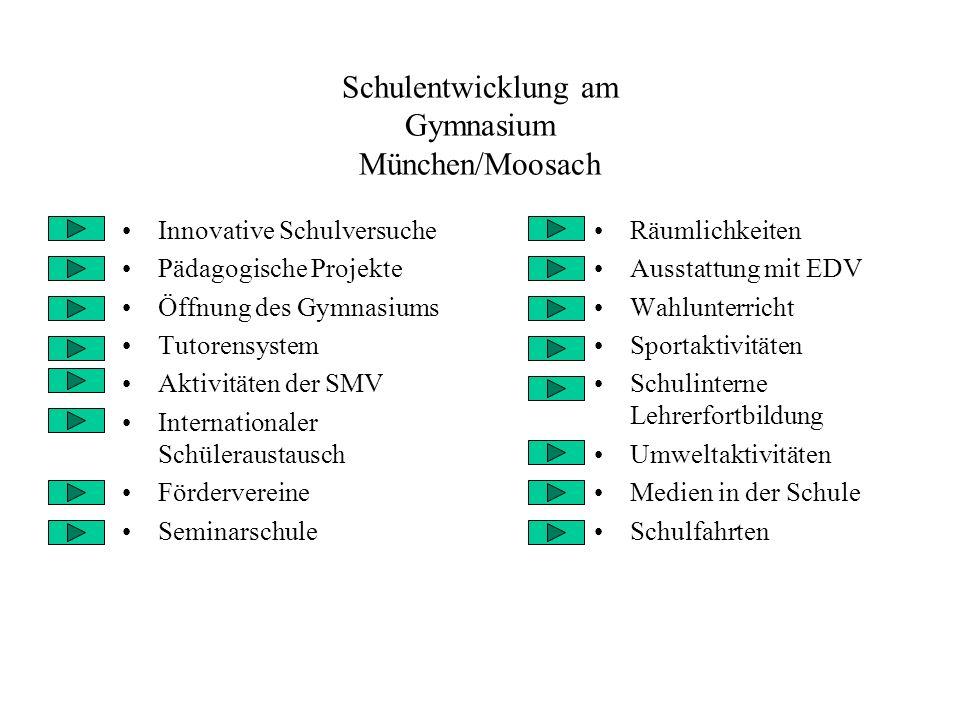 Schulentwicklung am Gymnasium München/Moosach