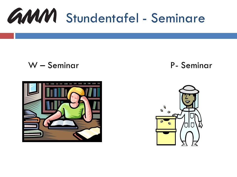 Stundentafel - Seminare