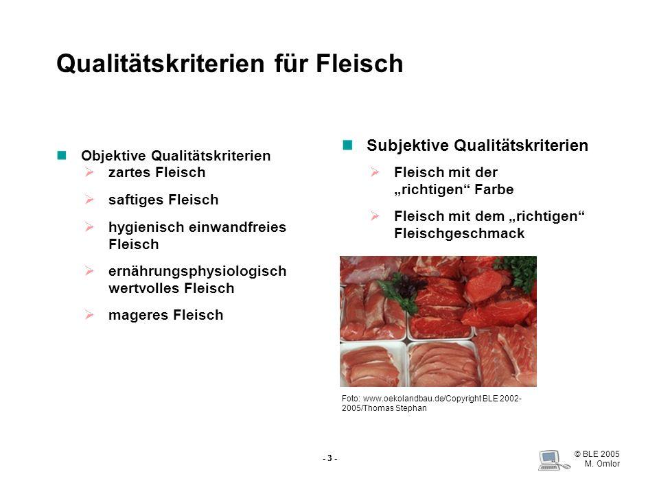 Qualitätskriterien für Fleisch