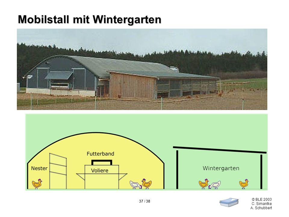 Mobilstall mit Wintergarten