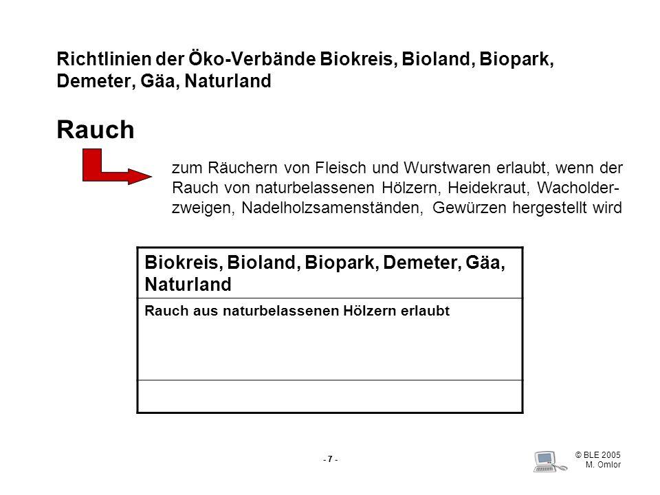 Biokreis, Bioland, Biopark, Demeter, Gäa, Naturland
