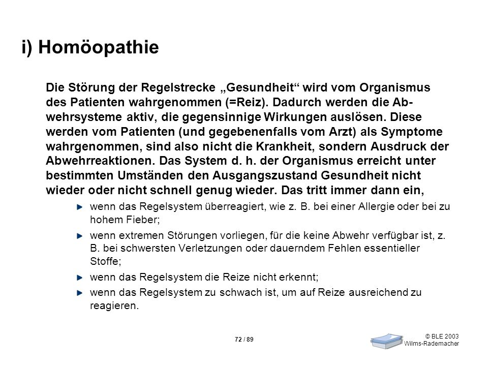 i) Homöopathie