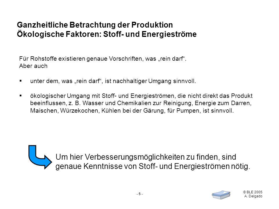 Ganzheitliche Betrachtung der Produktion Ökologische Faktoren: Stoff- und Energieströme