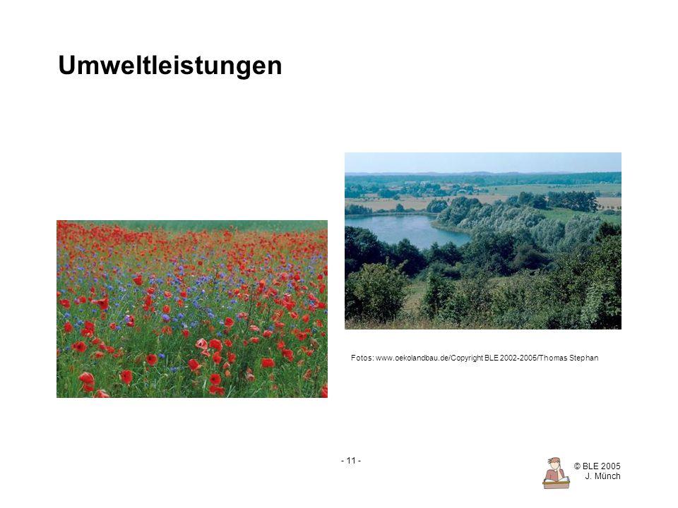 Umweltleistungen Fotos: www.oekolandbau.de/Copyright BLE 2002-2005/Thomas Stephan