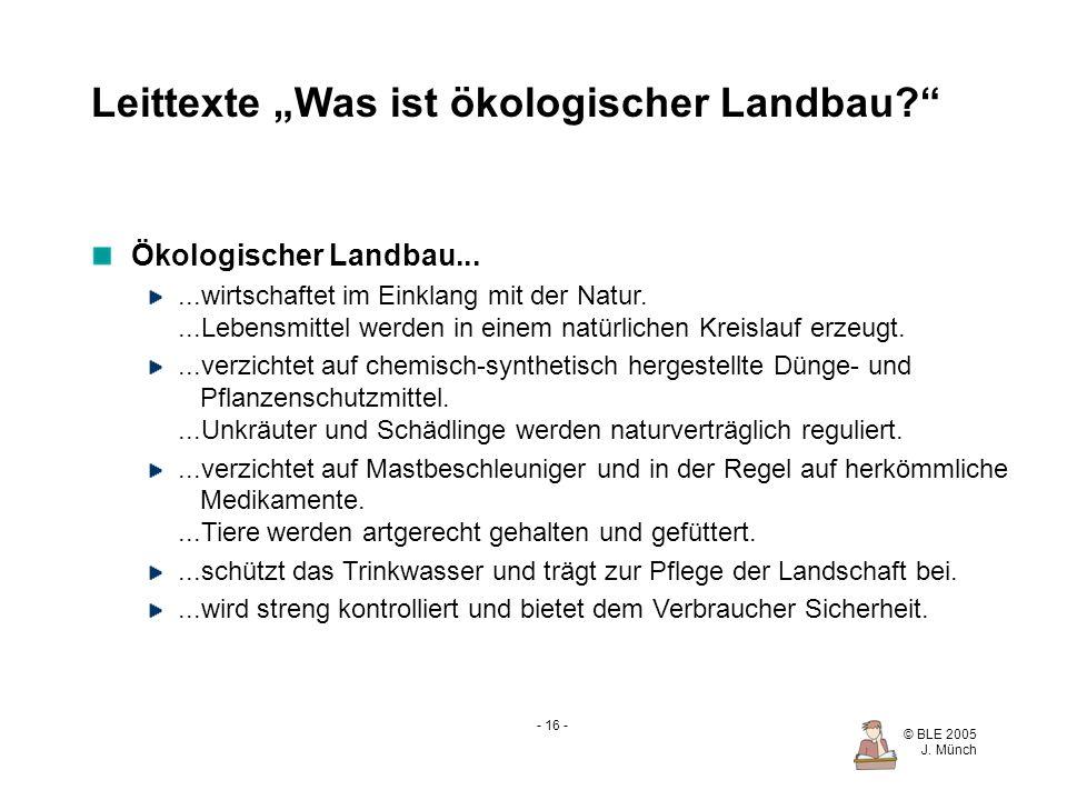 """Leittexte """"Was ist ökologischer Landbau"""