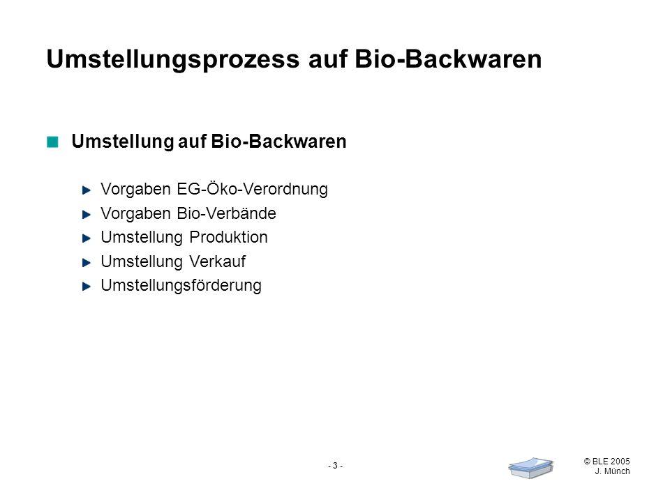 Umstellungsprozess auf Bio-Backwaren