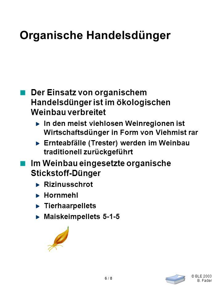Organische Handelsdünger