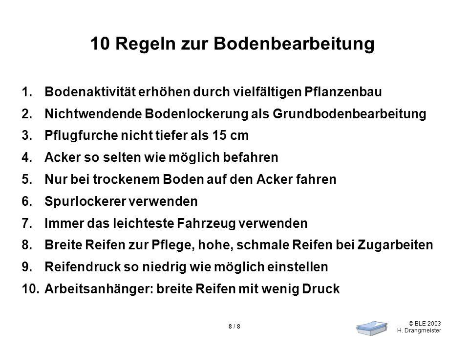 10 Regeln zur Bodenbearbeitung