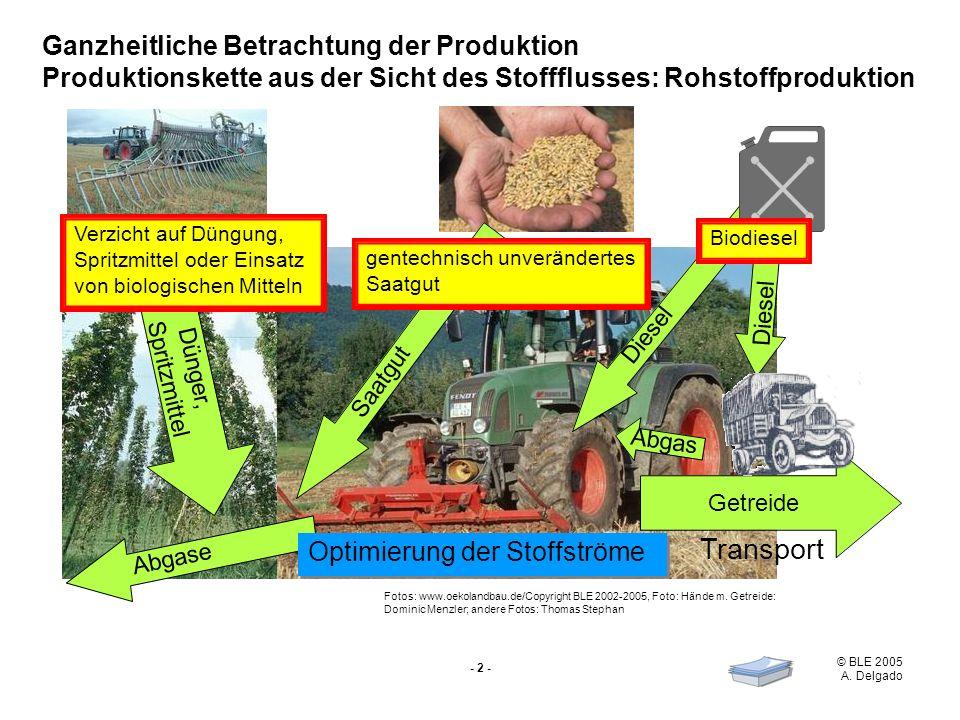 Transport Ganzheitliche Betrachtung der Produktion