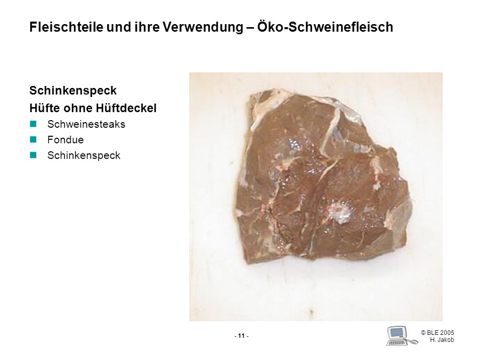 Fleischteile und ihre Verwendung – Öko-Schweinefleisch