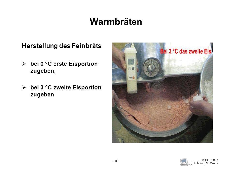 Warmbräten Herstellung des Feinbräts