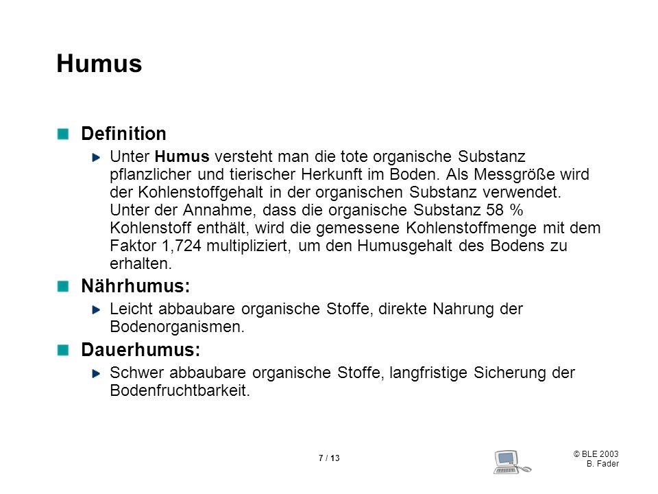 Humus Definition Nährhumus: Dauerhumus: