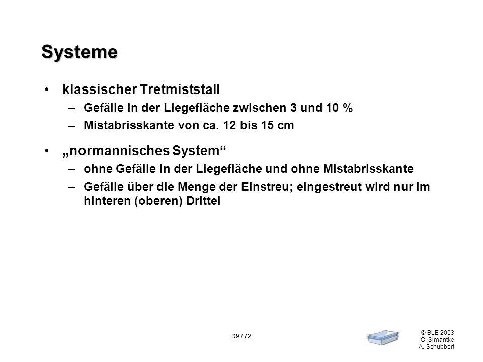 """Systeme klassischer Tretmiststall """"normannisches System"""