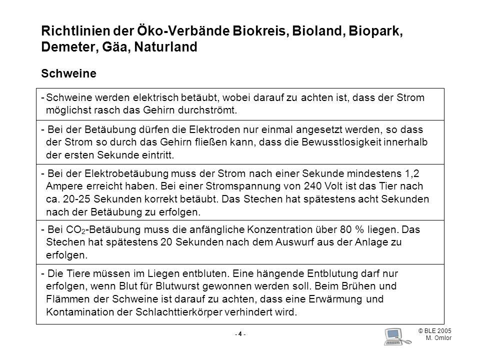 Richtlinien der Öko-Verbände Biokreis, Bioland, Biopark, Demeter, Gäa, Naturland Schweine