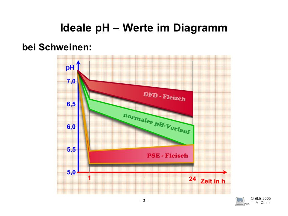 Ideale pH – Werte im Diagramm