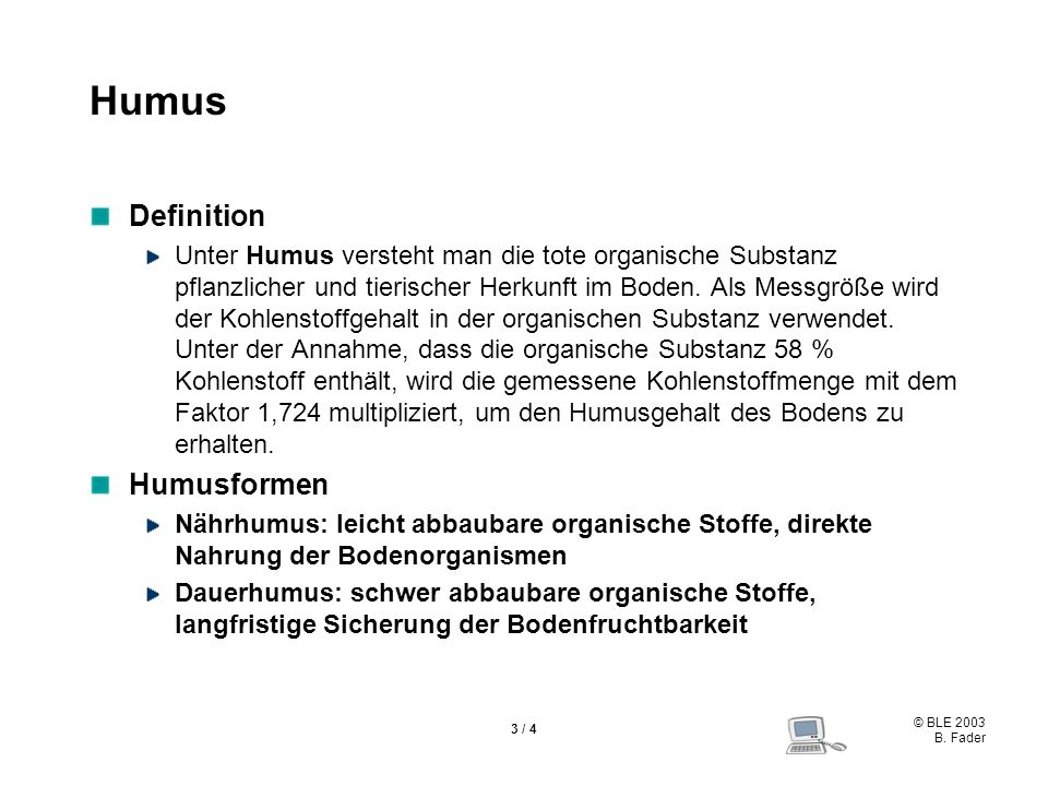 Humus Definition Humusformen