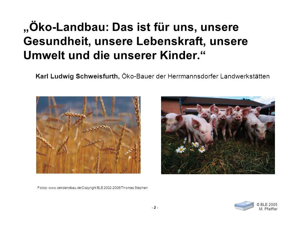 """""""Öko-Landbau: Das ist für uns, unsere Gesundheit, unsere Lebenskraft, unsere Umwelt und die unserer Kinder."""