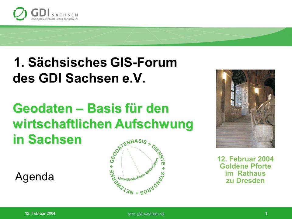 1. Sächsisches GIS-Forum des GDI Sachsen e. V