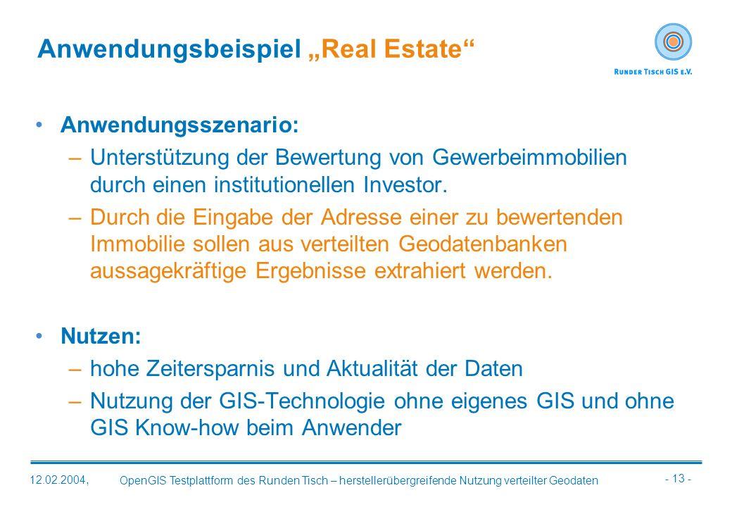 """Anwendungsbeispiel """"Real Estate"""