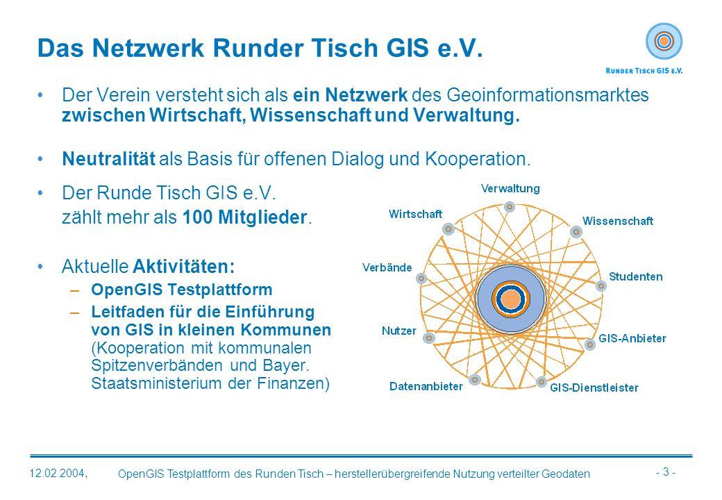 Das Netzwerk Runder Tisch GIS e.V.