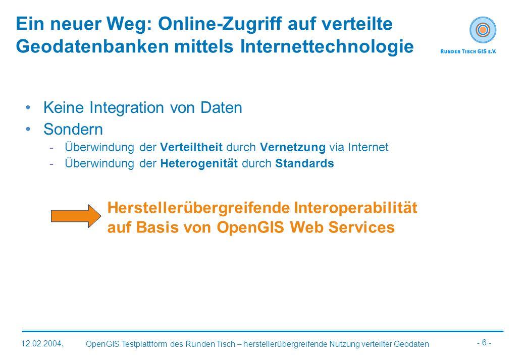 Ein neuer Weg: Online-Zugriff auf verteilte Geodatenbanken mittels Internettechnologie