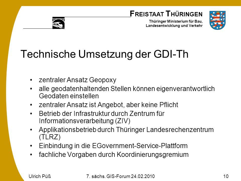 Technische Umsetzung der GDI-Th