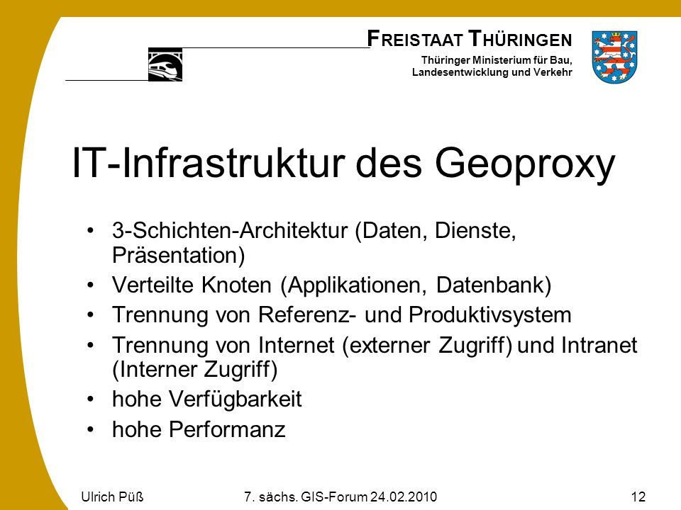 IT-Infrastruktur des Geoproxy