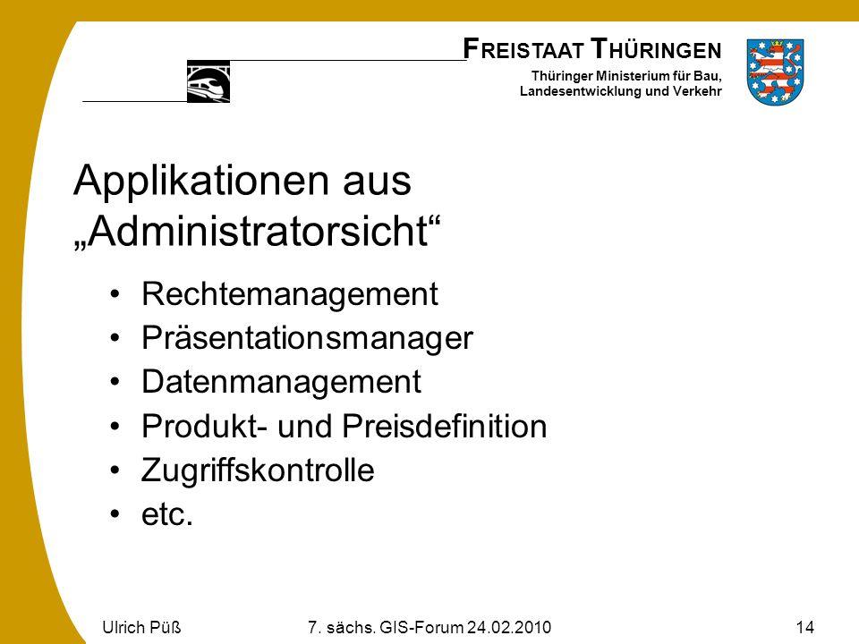 """Applikationen aus """"Administratorsicht"""