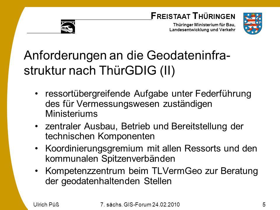 Anforderungen an die Geodateninfra-struktur nach ThürGDIG (II)