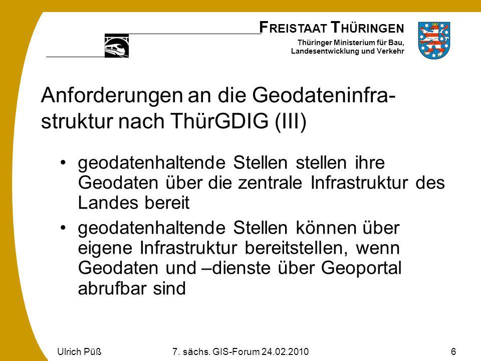 Anforderungen an die Geodateninfra-struktur nach ThürGDIG (III)