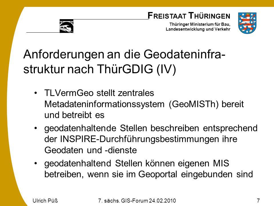 Anforderungen an die Geodateninfra-struktur nach ThürGDIG (IV)